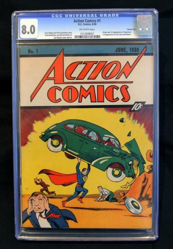 In 1938 the Superman comic cost 10 cents.