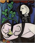 "Picasso's 1932 painting ""Nu au Plateau de Sculpteur (Nude, Green Leaves and Bust)"