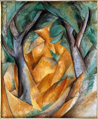 Credit: Trees at l'Estaque, 1908 (oil on canvas), Braque, Georges (1882-1963) / Statens Museum for Kunst, Copenhagen, Denmark / De Agostini Picture Library / The Bridgeman Art Library