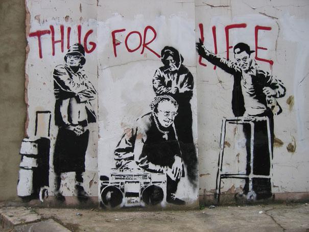 Banksy, Thug for LIfe