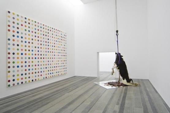 """Damien Hirst's """"Requiem"""" 2009 exhibition at Pinchuk Art Centre, started by Pinchuk in 2006. Photo via Art Radar Asia,"""
