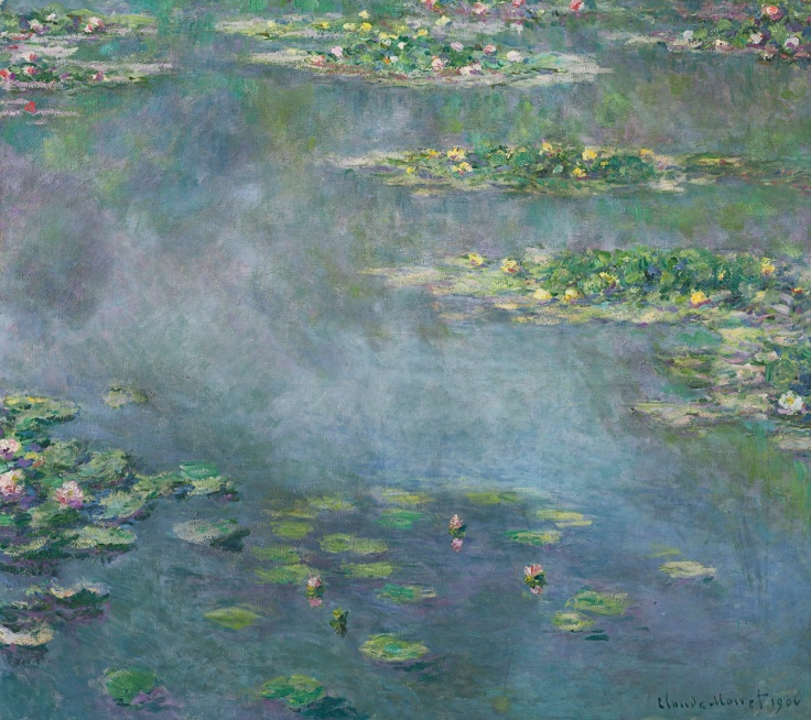 HE PROPERTY OF A DISTINGUISHED PRIVATE COLLECTION Claude Monet 1840 - 1926 NYMPHÉAS signed Claude Monet and dated 1906 (lower right) oil on canvas 88.5 by 100cm. 34 3/4 by 39 3/8 in. Painted in 1906. Estimate 20,000,000 — 30,000,000 GBP LOT SOLD. 31,722,500 GBP (Hammer Price with Buyer's Premium) series, inspired by the lily pond in his garden at Giverny.