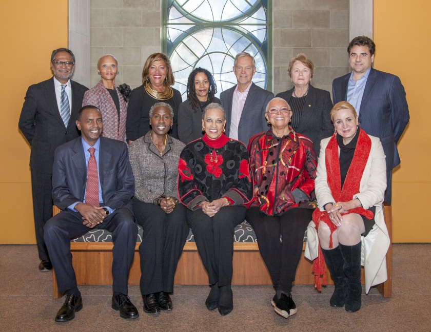 Guess who's on the advisory board? National Museum of African Art Board Members November 2013. Top row, left to Right: Asif Shaikh, Lucia Riddle, Marcella Jones, Renee Stout, Henry Drewal, Honorable Anne Imelda Radice, and Stuart Bohart. Bottom row Left to right: Mustafa Jama, Magdalene Johnson Obaji, Dr Johnnetta Cole, Dr. Camille Cosby, and Dr. Christine Warnke