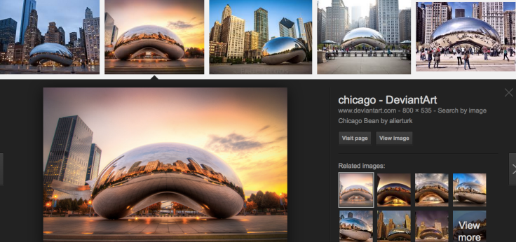 The beauty of the Bean: Google image search sreeenshot by TAM, featured pic by Allen Turk