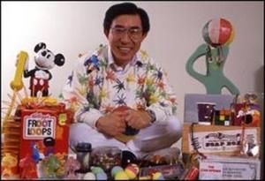 Nam June Paik estate exectutor, Ken Paik Hakuta, as Dr. Fad.