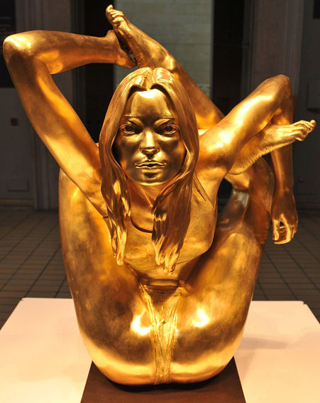 Marc Quinn's Golden Kate Moss